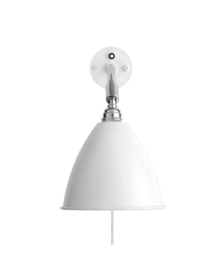 Bestlite BL7 Vegglampe Ø16 Krom/Matt Hvit - GUBI