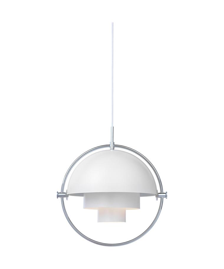 Multi-Lite Taklampa Ø36 Krom/Vit - GUBI
