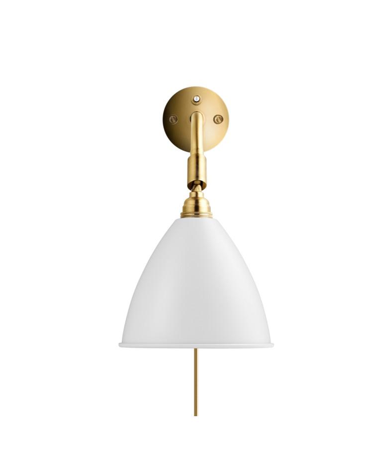 Bestlite BL7 Vegglampe Ø16 Messing/Matt Hvit - GUBI