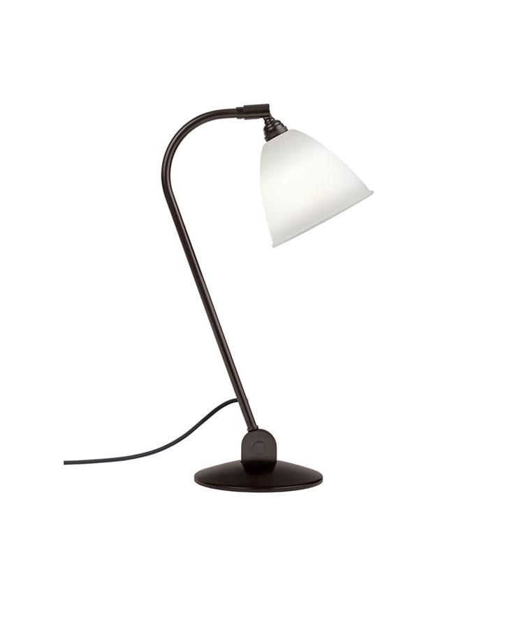 BL2 Bordlampe Ø16 Sort Messing/Porcelæn - GUBI