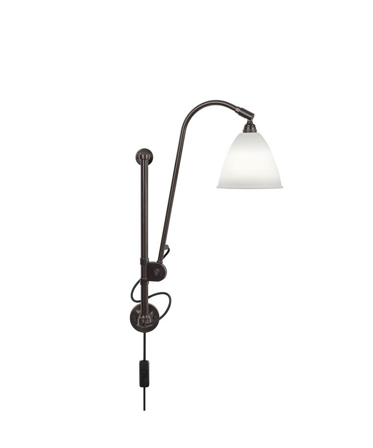 BL5 Væglampe Ø16 Sort Messing/Porcelæn - GUBI