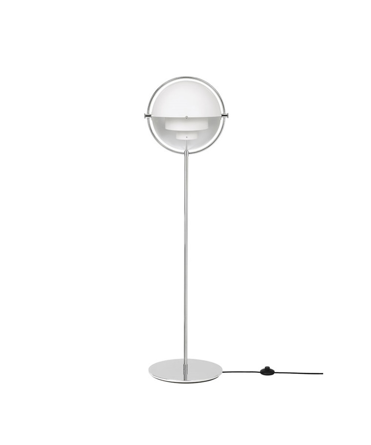 Multi-Lite Gulvlampe Krom/Hvit - GUBI