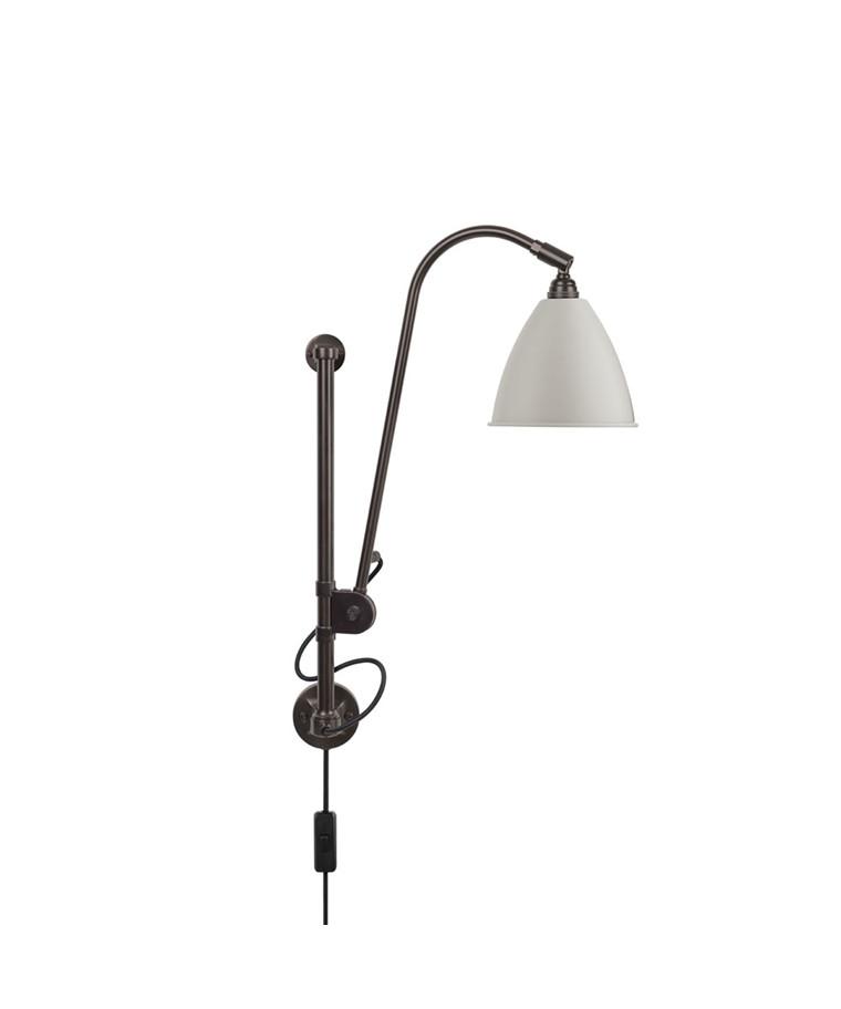 BL5 Væglampe Ø16 Sort Messing/Klassisk Hvid - GUBI