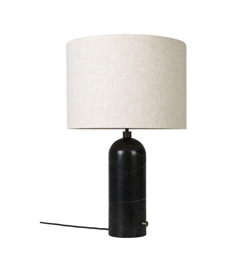 Gravity Bordlampe Large Sort Marmor/Canvas - GUBI