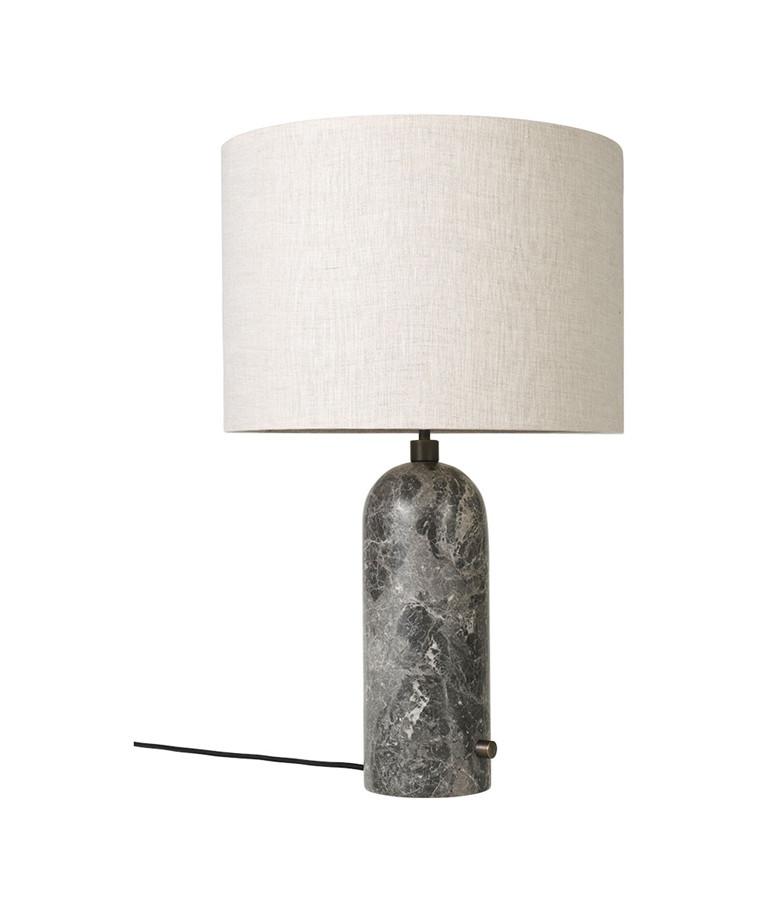 Gravity Bordlampe Large Grå Marmor/Canvas - GUBI