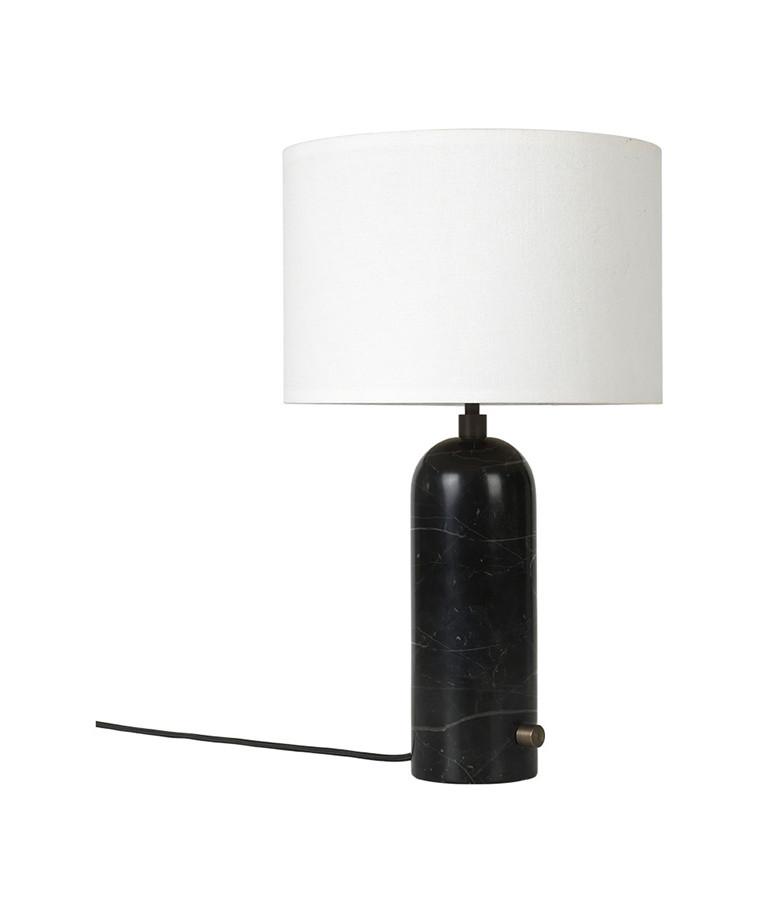 Gravity Bordlampe Small Svart Marmor/Hvit - GUBI