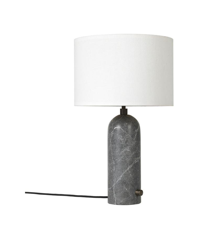 Gravity Bordlampe Small Grå Marmor/Hvit - GUBI