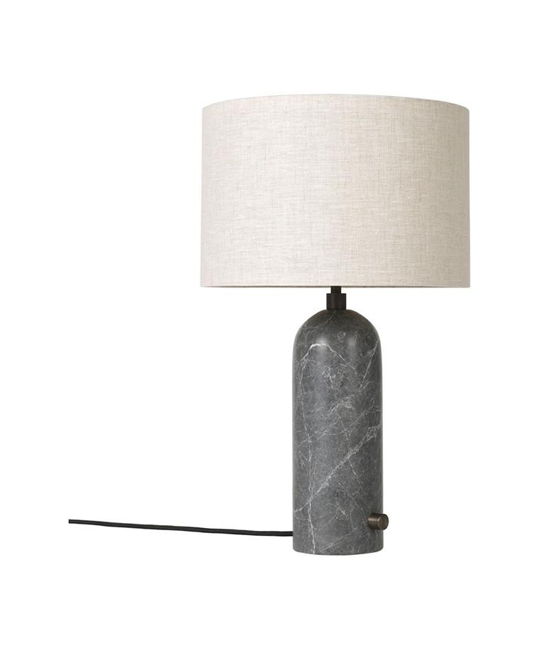 Gravity Bordlampe Small Grå Marmor/Canvas - GUBI