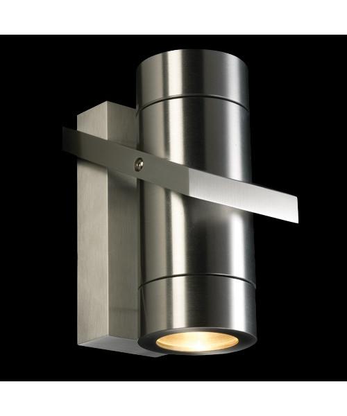 Turn up/down væglampe/udendørslampe alu
