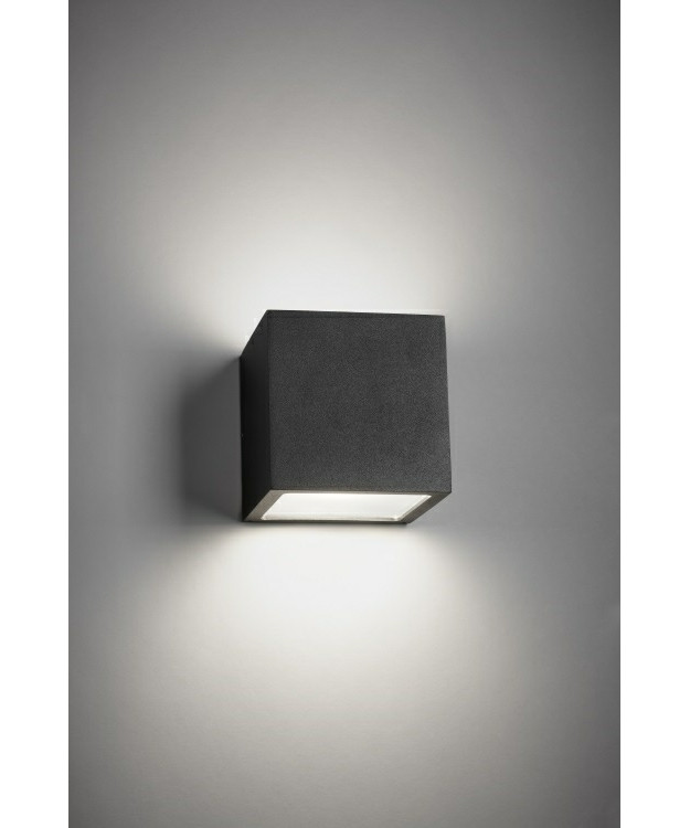 Cube XL Udendørs Væglampe Up/Down Sort - LIGHT-POINT