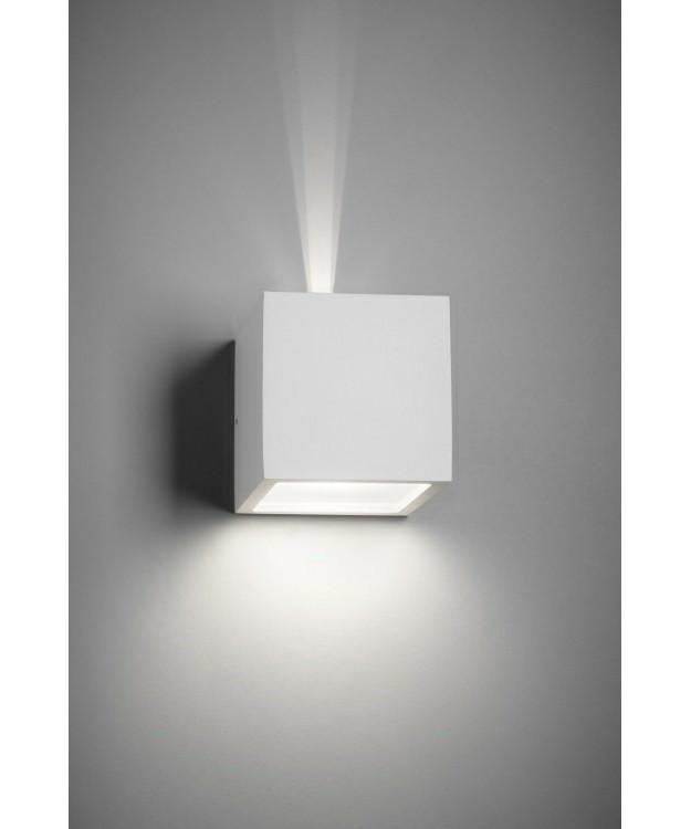 Cube led udendørs væglampe up/down hvid