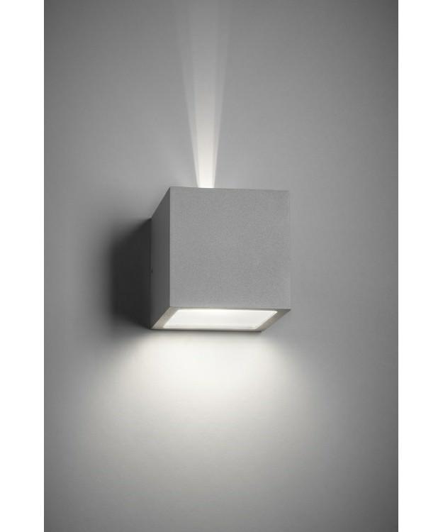 Cube LED Udendørs Væglampe Up/Down Sølv - LIGHT-POINT