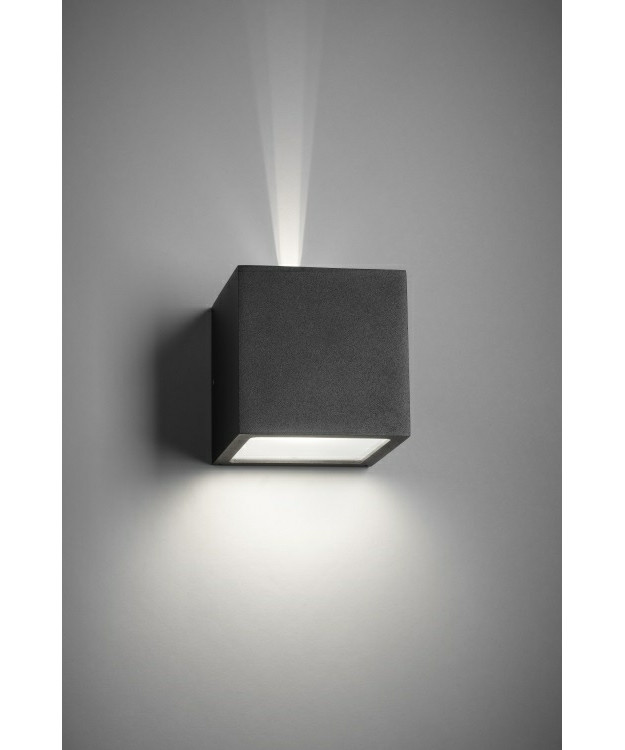 Cube LED Udendørs Væglampe Up/Down Sort - LIGHT-POINT