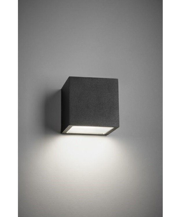 Cube XL LED Udendørs Væglampe Down Sort - LIGHT-POINT