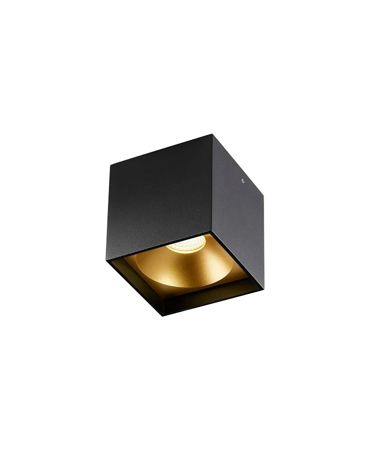 Solo Square Loftlampe Sort/Guld - LIGHT-POINT