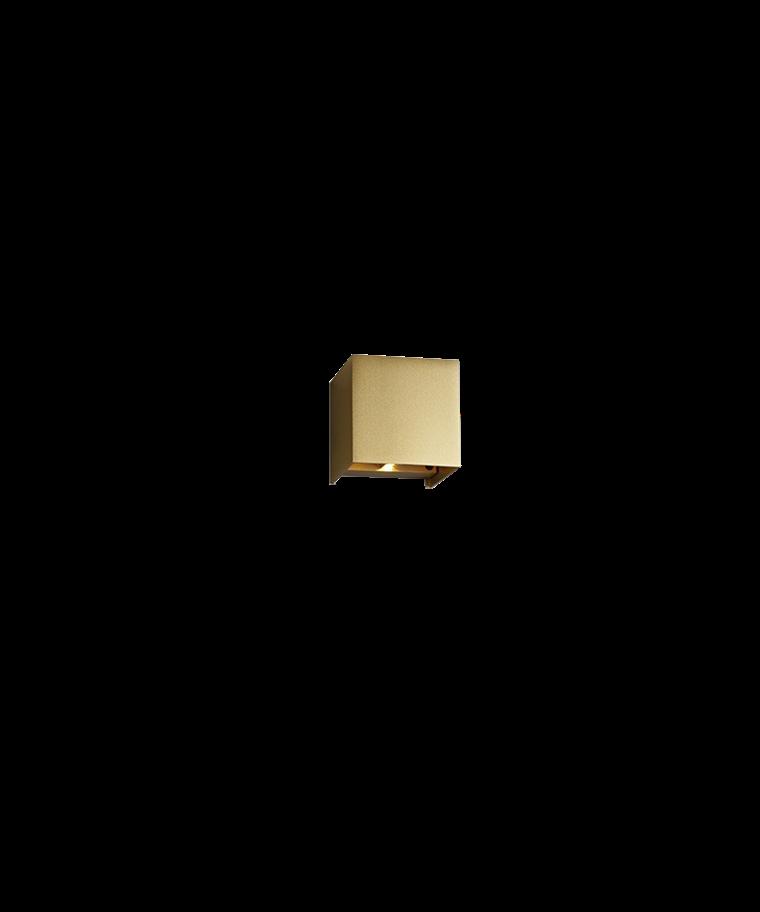Box Mini Up/Down Væglampe Guld - LIGHT-POINT