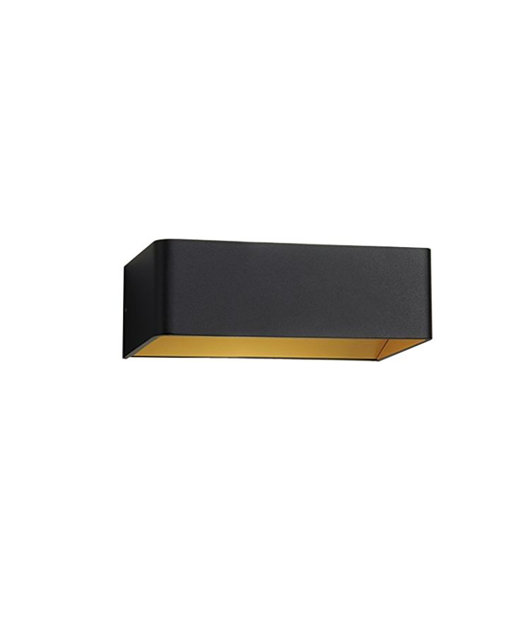 Mood 2 LED Væglampe Sort/Guld - LIGHT-POINT