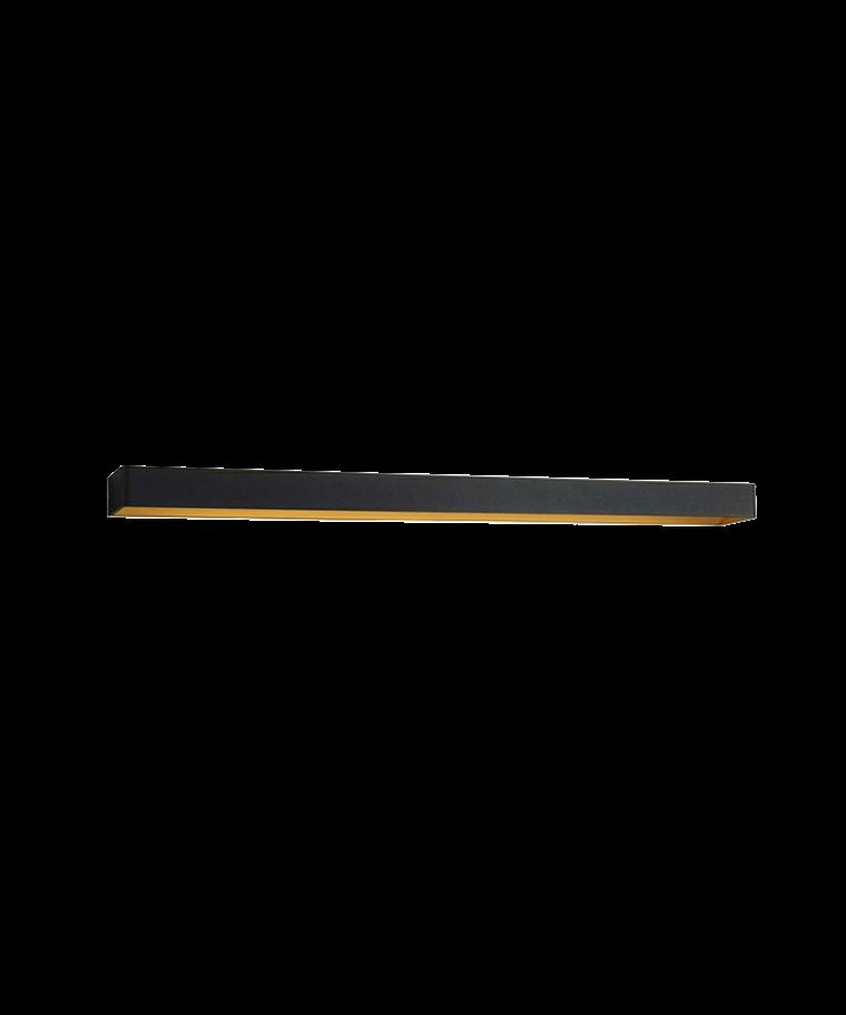 Mood 5 Væglampe Sort/Guld - LIGHT-POINT