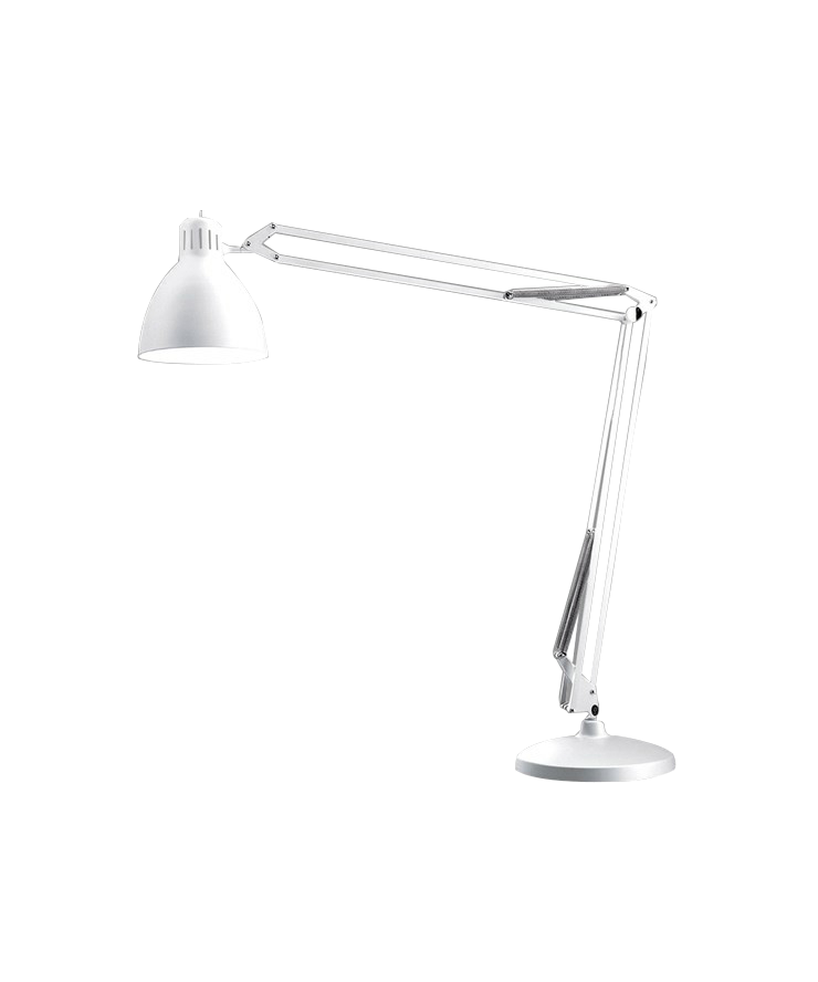 Design  Ronni Gol for Light Point  Koncept  Et designikon og et stykke historie, som spænder over generationer. Archi Grande udendørs gulvlampen er en forstørret arkitektlampe, der med sin grandiose højde - kan blive over 4 meter høj - virkelig forstår at lyse op i landskabet.  Archi Grande gulvlampe - her i hvid - kan også vælges i sort og sort/guld.  Derudover findes flere forskellige gulvlamper at vælge imellem - samt væglamper, pendler og bordlamper.  Archi Grande gulvlampen erstatter den tidligere JJ lampeserie. Samme høje kvalitet.