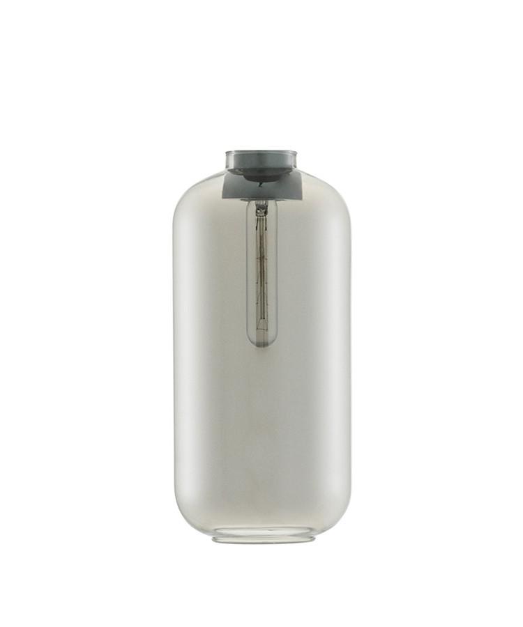 Amp Glas  t/Large Pendel Røg - Normann