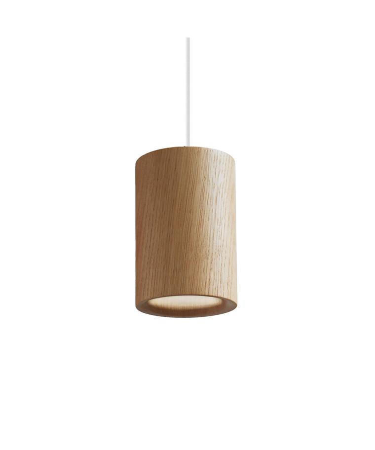 Solid Pendelleuchte Cylinder Natural Oak - Terence Woodgate