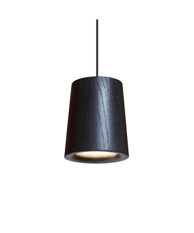Solid Taklampe Cone Black Stained Oak - Terence Woodgate
