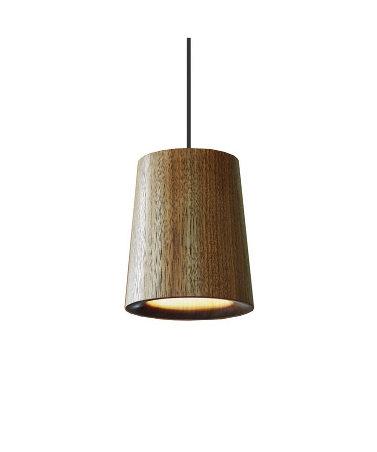 Solid Taklampe Cone Walnut - Terence Woodgate