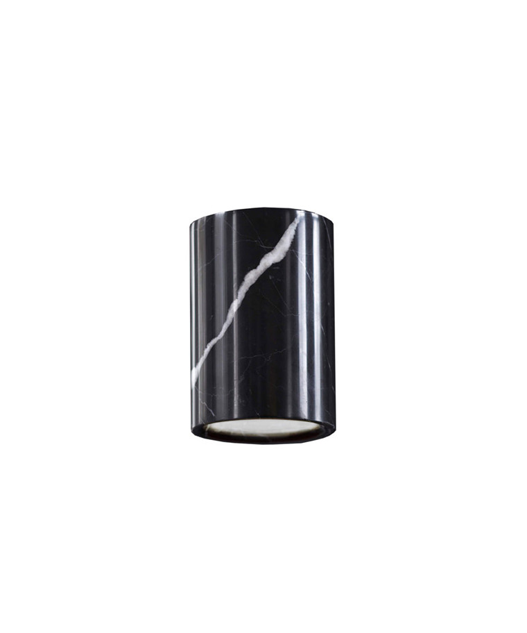 Solid Downlight Cylinder Nero Marquina Marble - Terence Woodgate