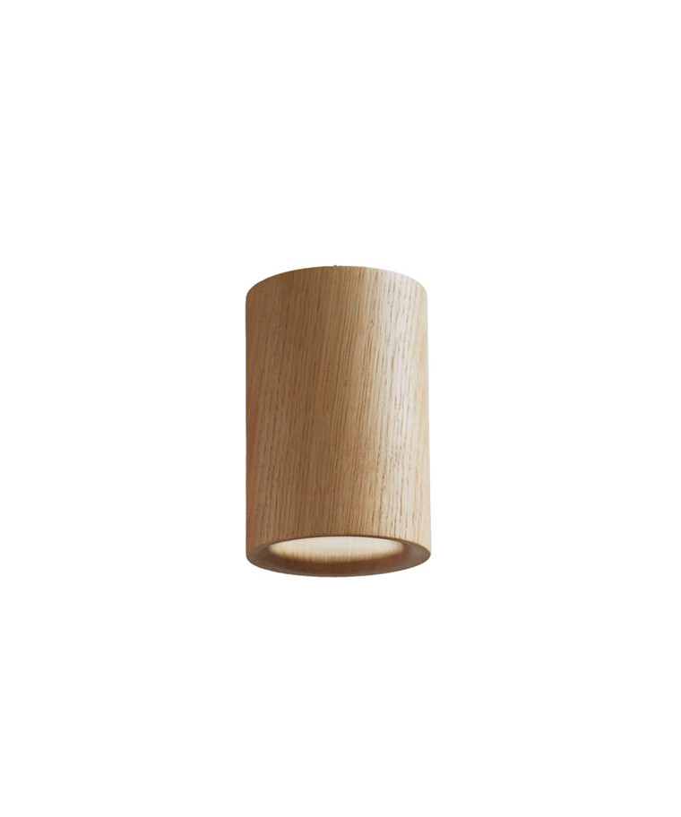 Solid Downlight Cylinder Natural Oak - Terence Woodgate