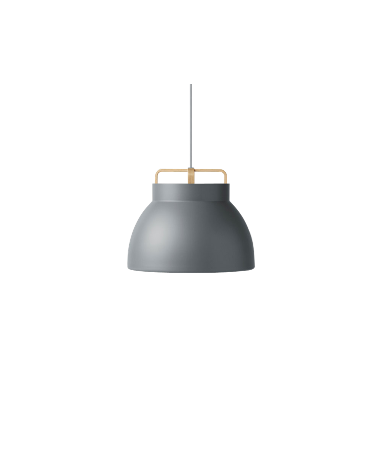 Voyage Pendelleuchte M3 Ø46 Dark Grey/Oak - MILLION