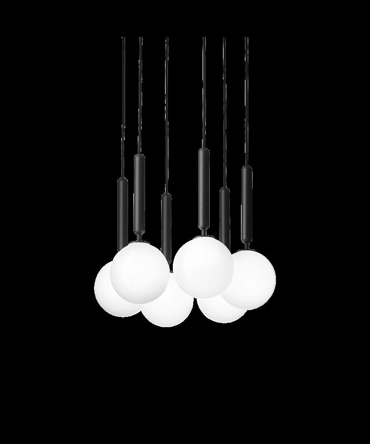 Miira 6 Lysekrone Rock Grey/Opal White - Nuura
