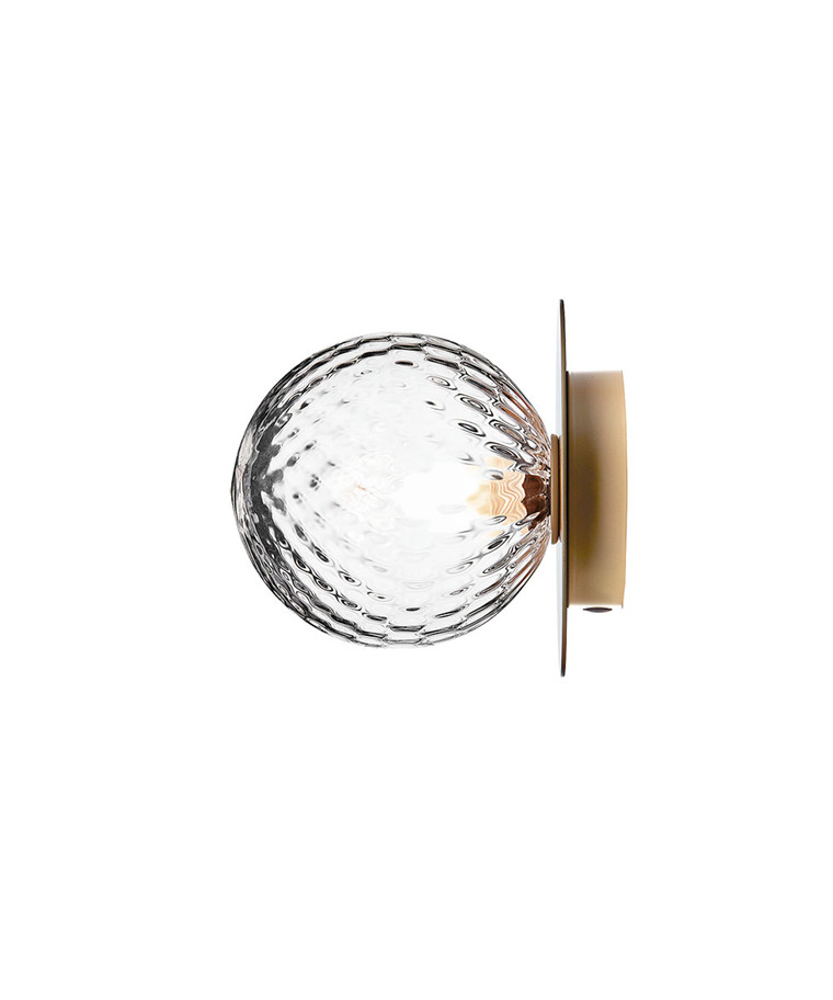 Liila 1 Væglampe/Loftlampe Nordic Gold/Optic Clear - Nuura