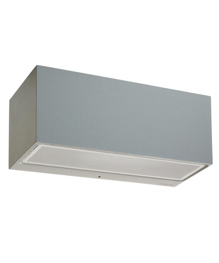 Asker LED Big Up/Down Udendørs Væglampe Alu - Norlys