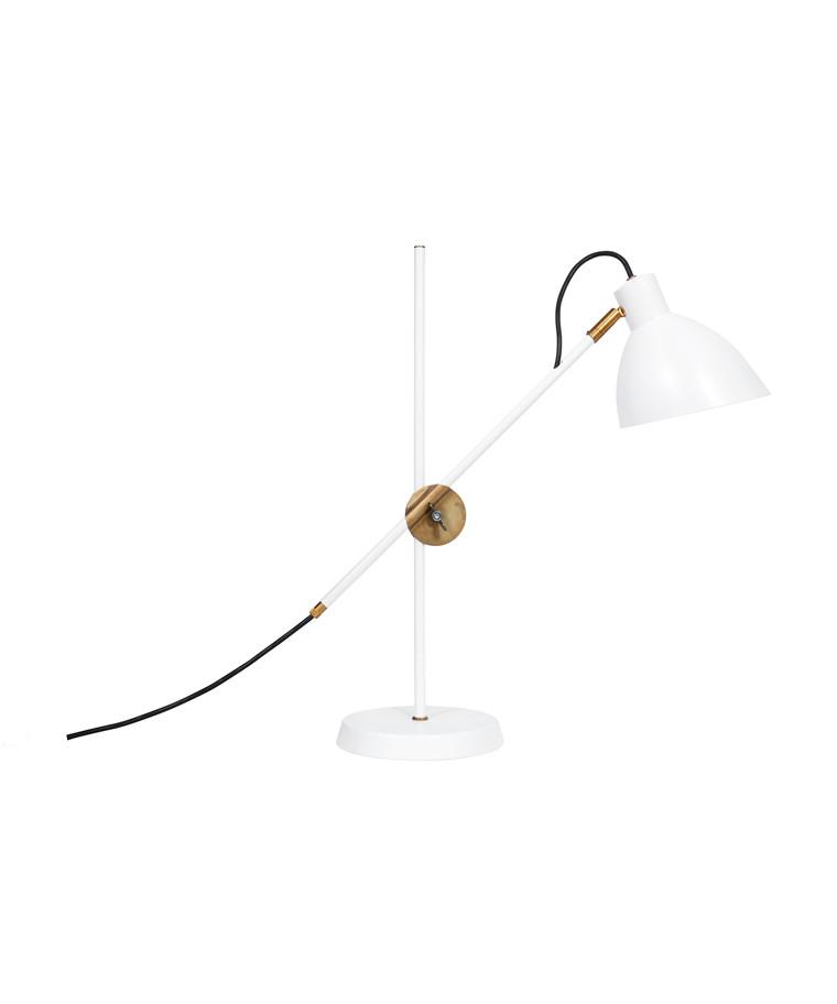 KH#1 Hvid/Rå Messing Bordlampe - KonstHantverk