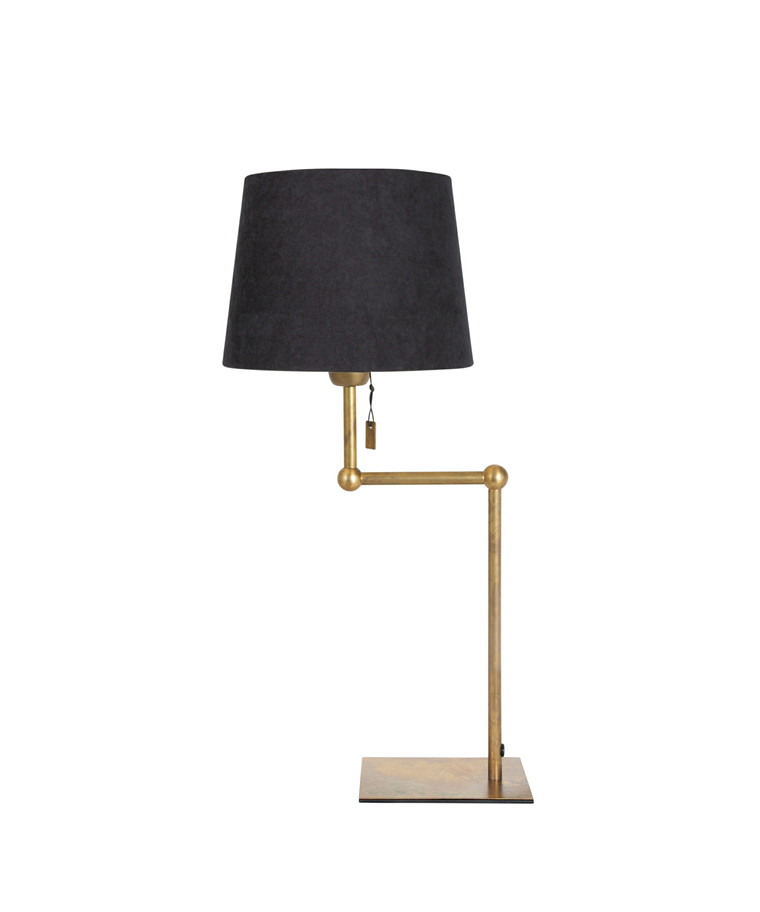 Viken Rå Messing Bordlampe - KonstHantverk