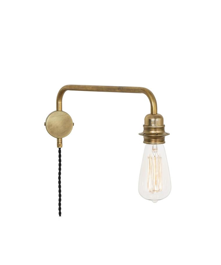 Edison Væglampe Down Rå Messing - KonstHantverk