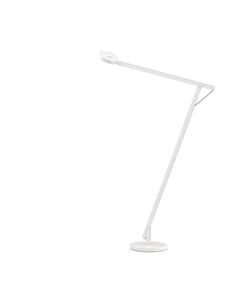 String F1 Gulvlampe Hvid/Silver - Rotaliana