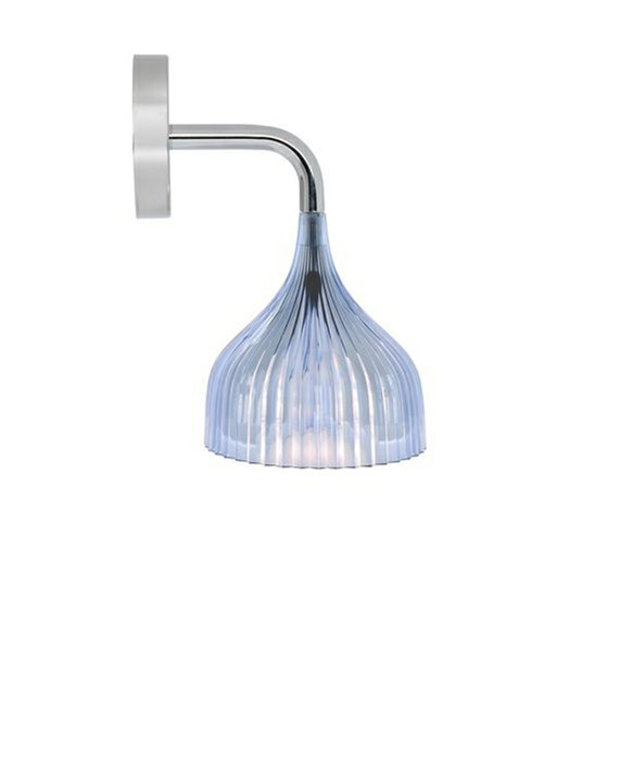 E' Væglampe Lys Blå - Kartell