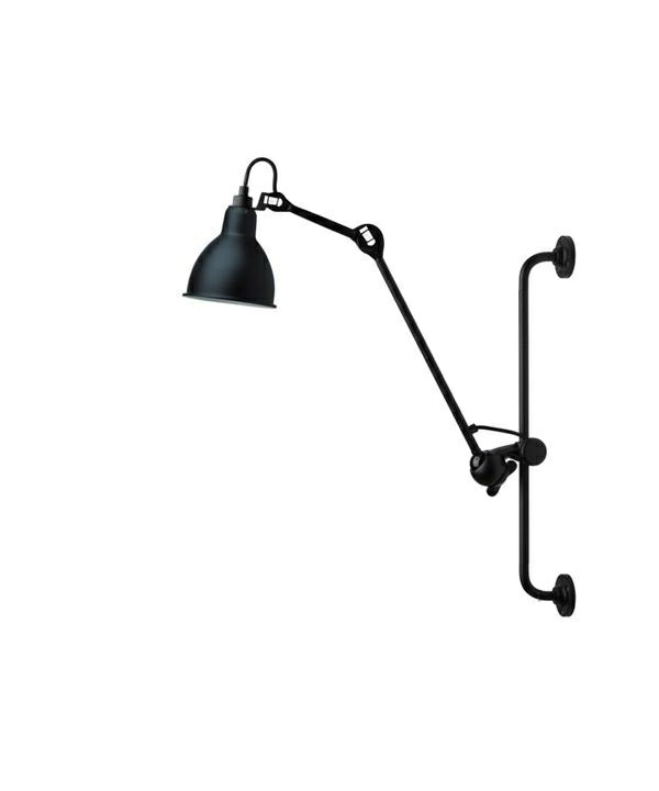 Image of   210 Væglampe Sort/Satin - Lampe Gras