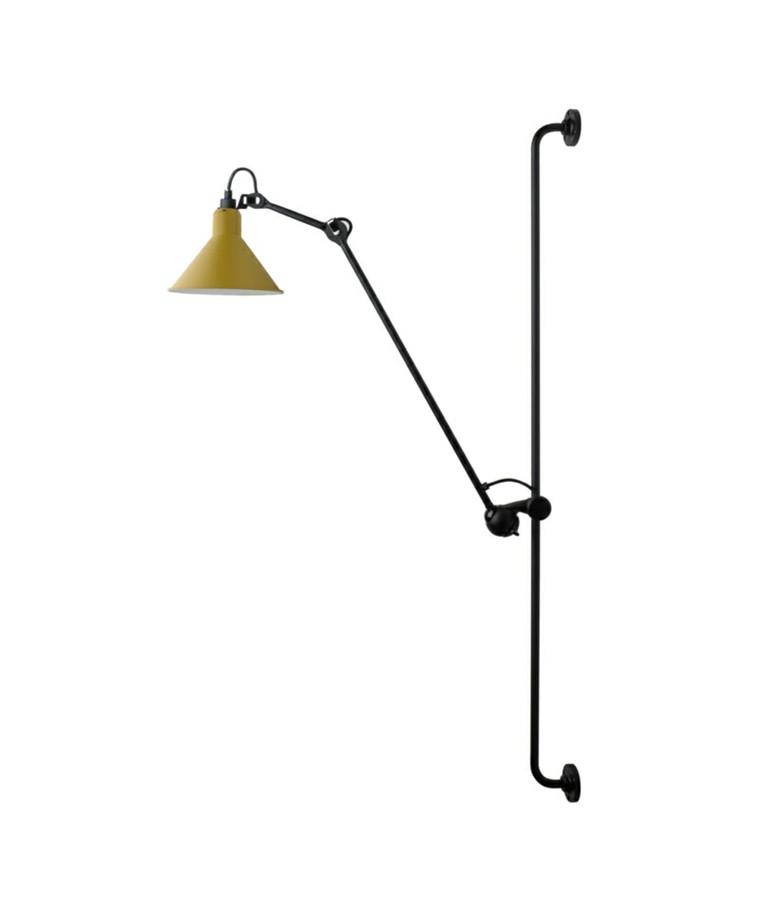 214 Væglampe Gul - Lampe Gras