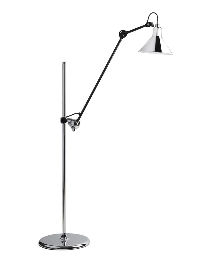 215 Gulvlampe Sort/Hvid - Lampe Gras