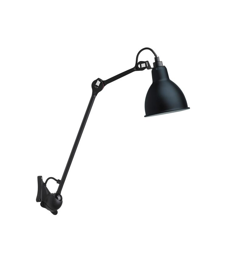 222 Væglampe Sort/Sort - Lampe Gras