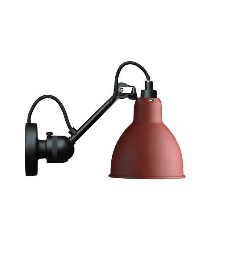 304 Væglampe Rød - Lampe Gras