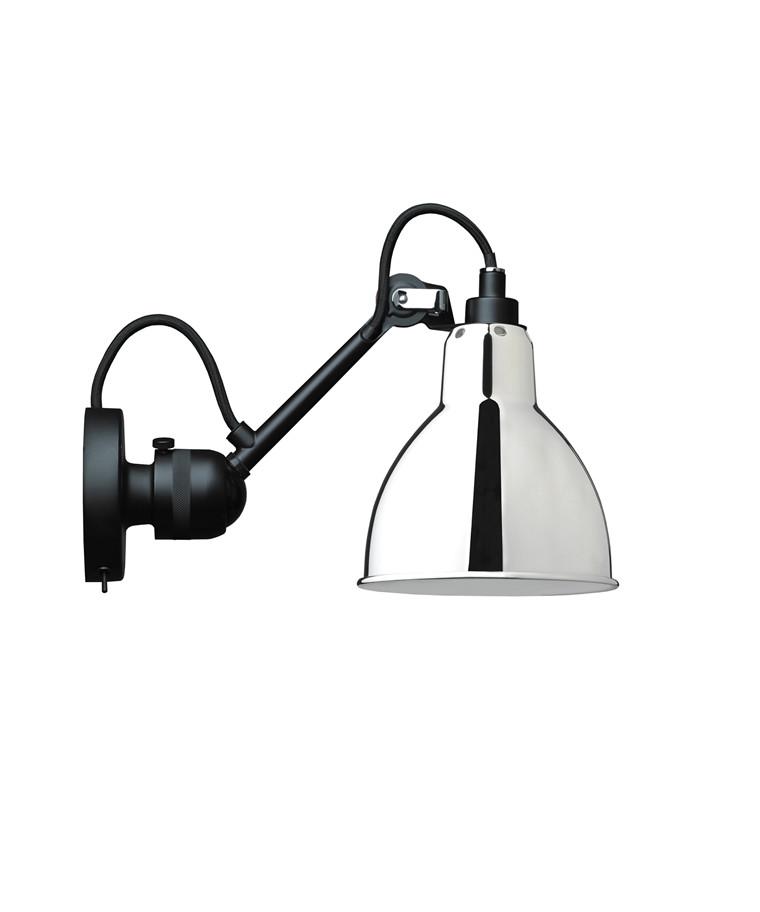 304SW Væglampe Sort/Krom - Lampe Gras