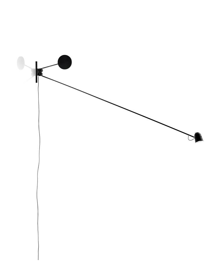 Counterbalance Vegglampe Svart - Luceplan
