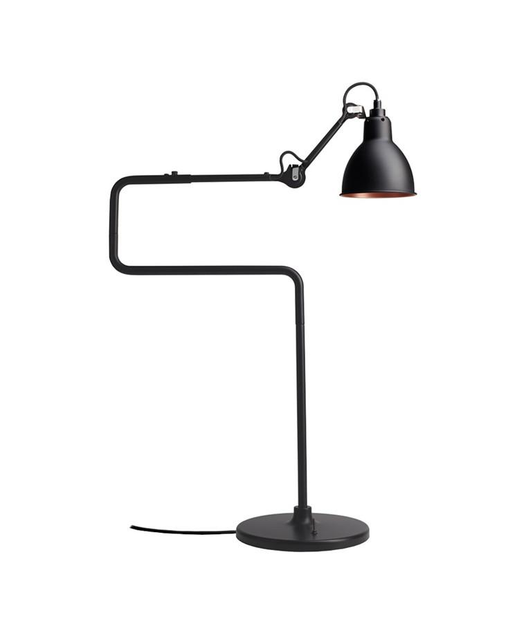317 Bordlampe Sort/Sort/Kobber fra Lampe Gras