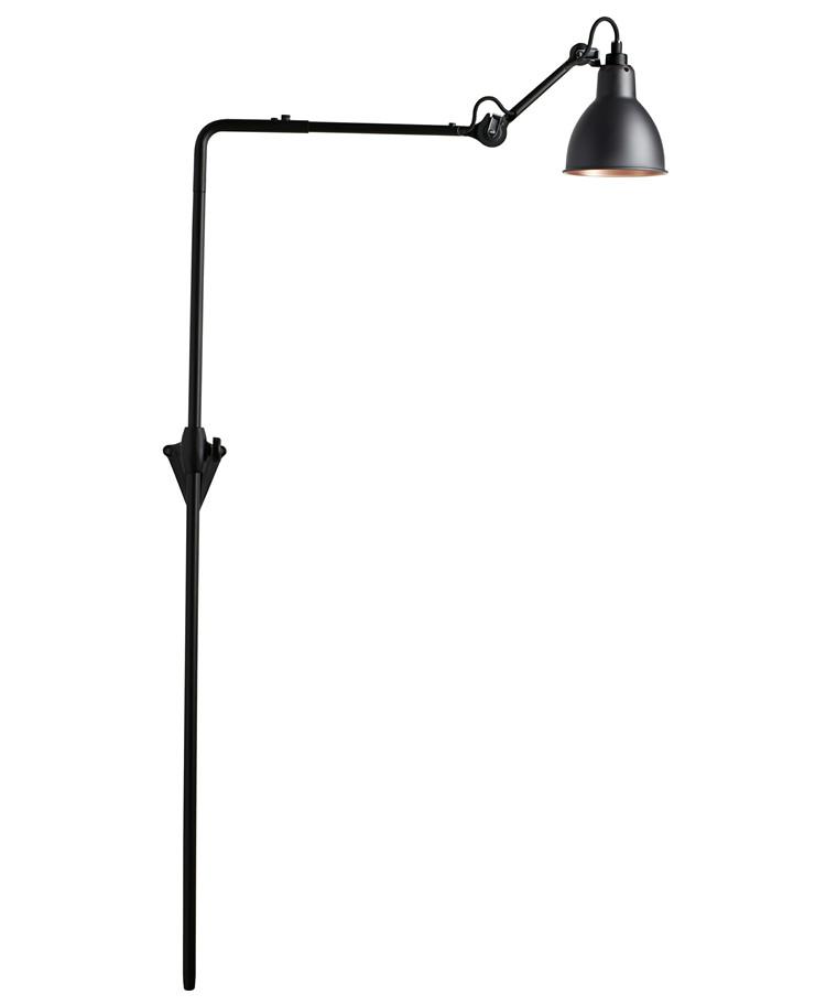 216 Væglampe Sort/Sort/Kobber - Lampe Gras