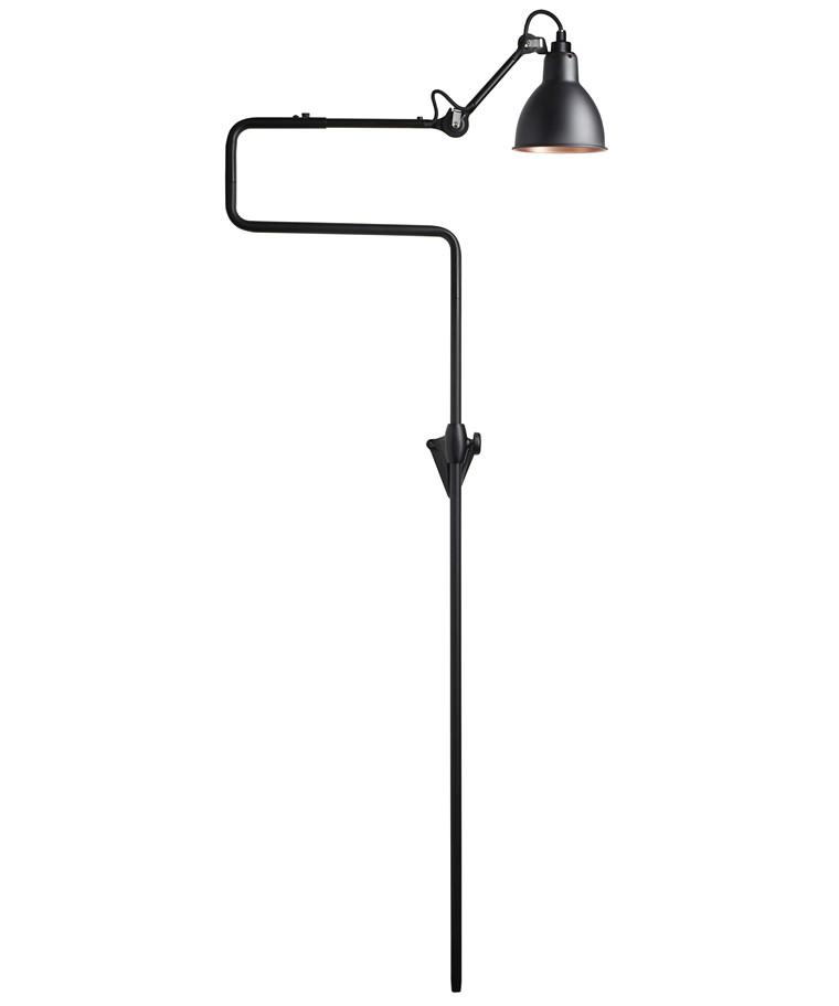 217 Væglampe Sort/Sort/Kobber - Lampe Gras