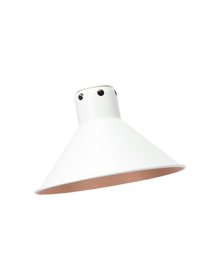 Image of   Skærm til Lampe Gras 215 Hvid Kobber - Lampe Gras