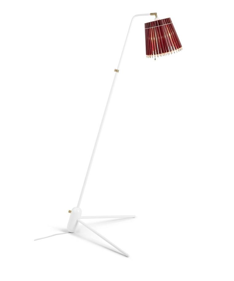 Pencil Gulvlampe Rød/Hvid  - Tom Rossau